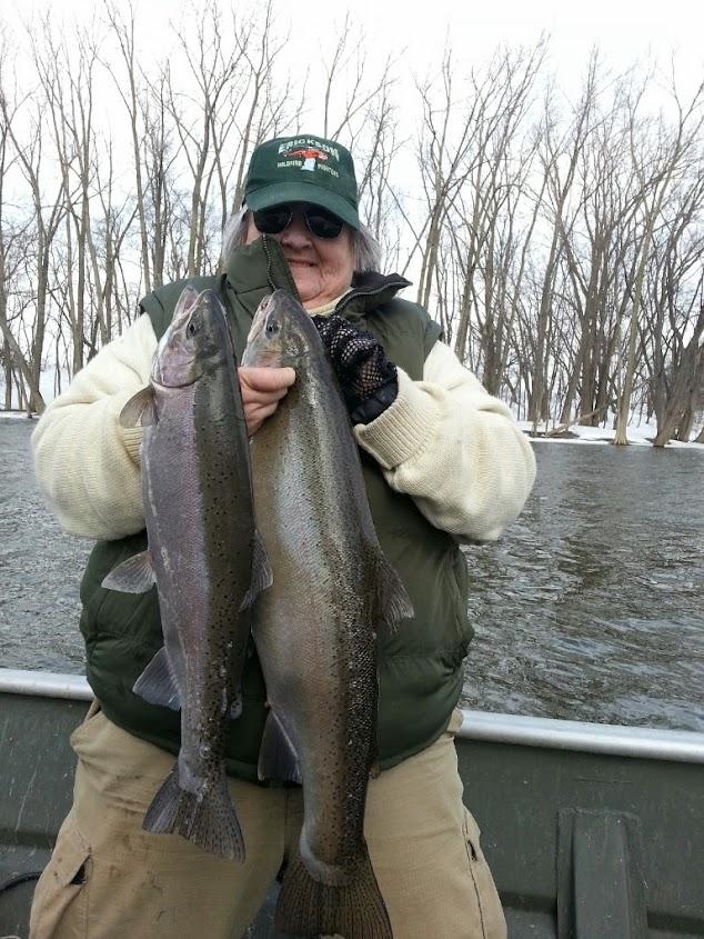Steelhead plug fishing double