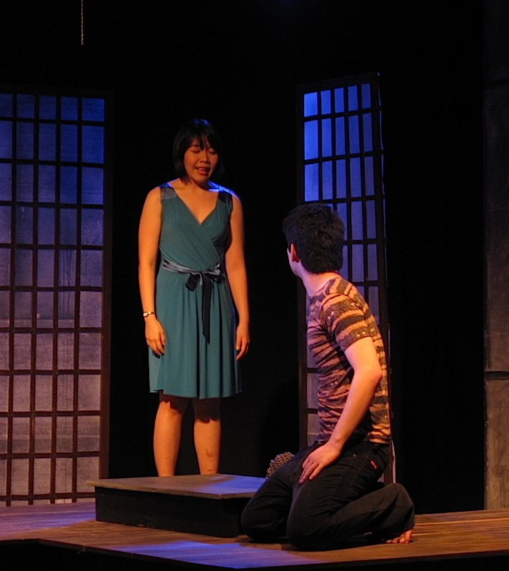 Laura Cabochan and Nicolo Magno in Tanghalang Ateneo's production of Fireflies