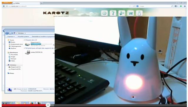 Karotz en cours d'installation