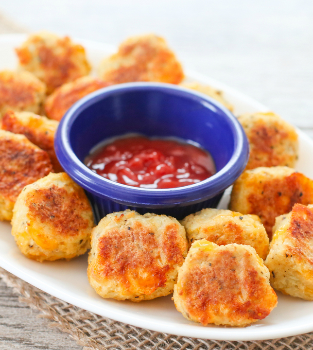 cauliflower tots with dipping sauce