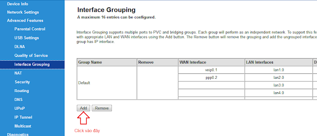 Interface Grouping