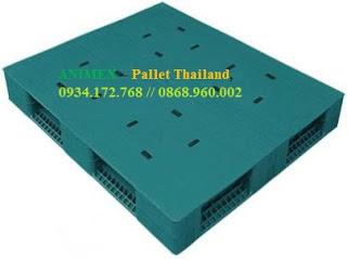 Pallet nhựa 2 mặt bít nhập khẩu