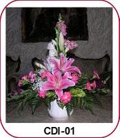 Buket Bunga Meja Cantik