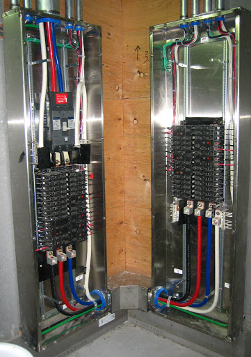 400 amp feed thru panel from panel a to panel a1 needs a main cb checker is incorrect since the main in panel 1 is protecting panel 2 heres an similar installation i did last year with both panels being 400 amps greentooth Image collections