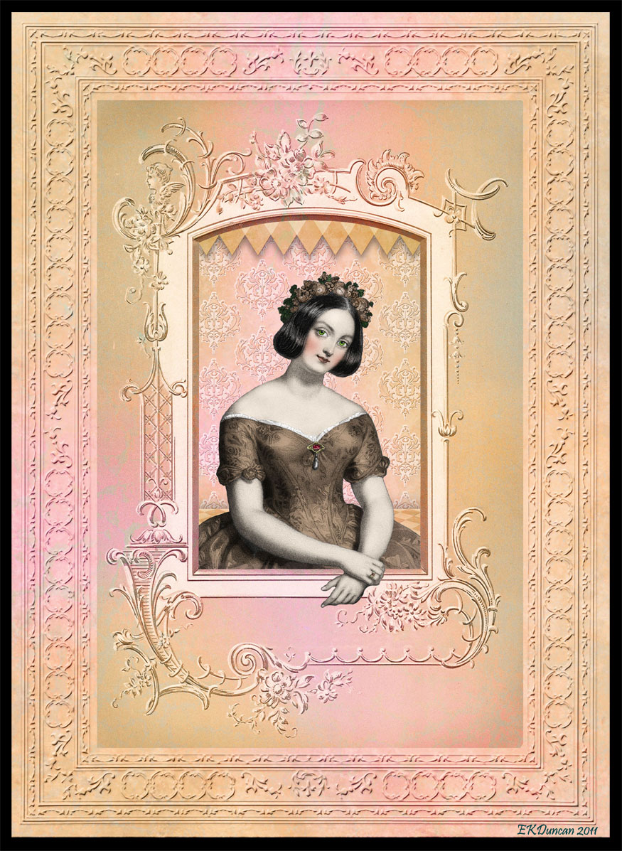 Book Cover Wall Art : Ekduncan my fanciful muse framed lady book cover art