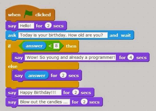 Happy Birthday code