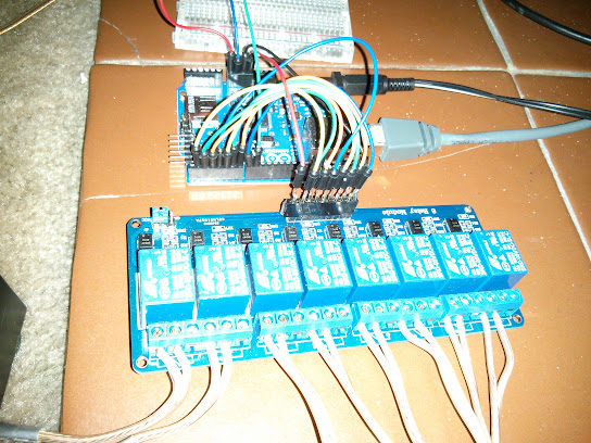 Picture of the relay wiring
