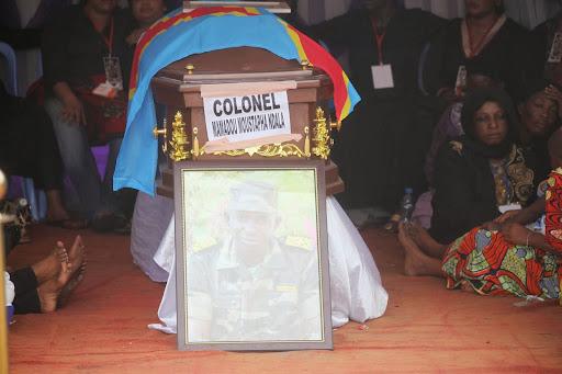 Les obsèques du colonel Mamadou Moustafa Ndala au Camp Kokolo. Radio Okapi/Ph. John Bompengo.