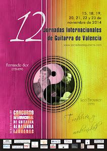 XII Jornadas Internacionales de Guitarra de Valencia. 2014