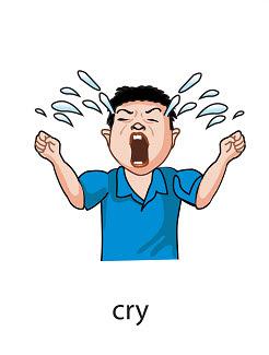 cry%2520 %2520flashcard Verb flashcard