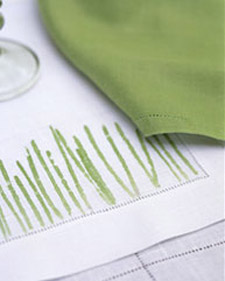 Pounded grass place mats