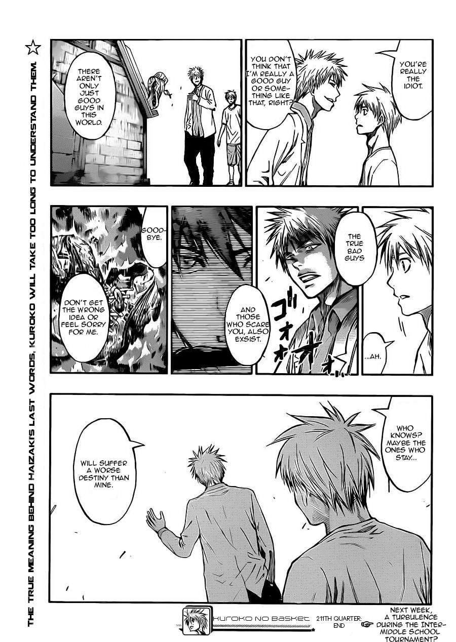 Kuroko no Basket Manga Chapter 211 - Image 19