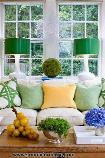 Phòng khách tươi mới đón mùa xuân hè_tin tức nội thất-2