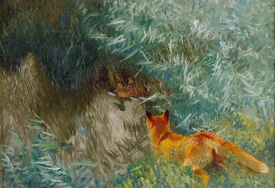 Bruno Liljefors - Stalking fox 1915