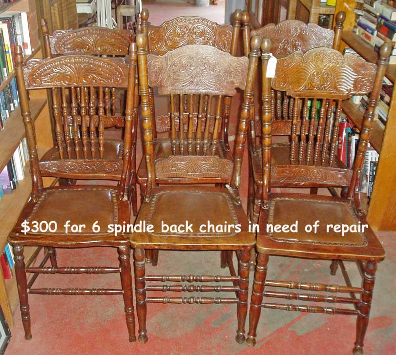 6 American Spindle Back Chairs