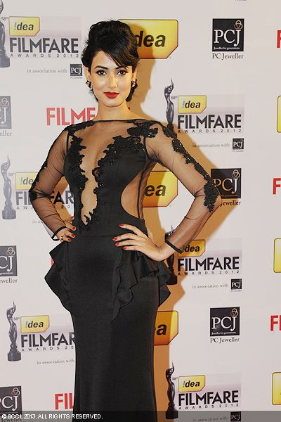 Sonal Chauhan rose the temperatures in a transparent outfit during the 58th Idea Filmfare Awards 2013, held at Yash Raj Films Studios in Mumbai.Click here for:<br />  58th Idea Filmfare Awards<br />