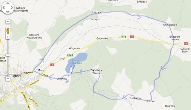 Trasa - mapka 26.05.2012
