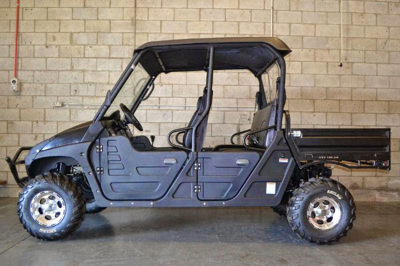 600cc 4x4 Farm UTV 4 seater Dual Cab with CF moto Engine Blue