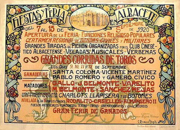 Cartel Feria Albacete 1920