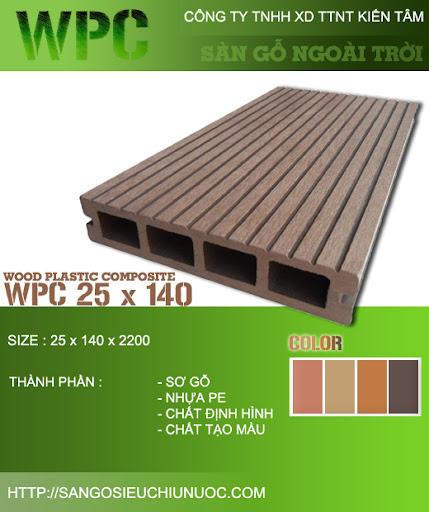 Ván sàn gỗ nhân tạo ngoài trời WPC