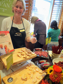 Taste of Zupan's- sampling Hempler's Artisan Meats, in this case Sundried Tomato Chicken Breast, Beef Summer Sausage, and Pepperoni Sticks