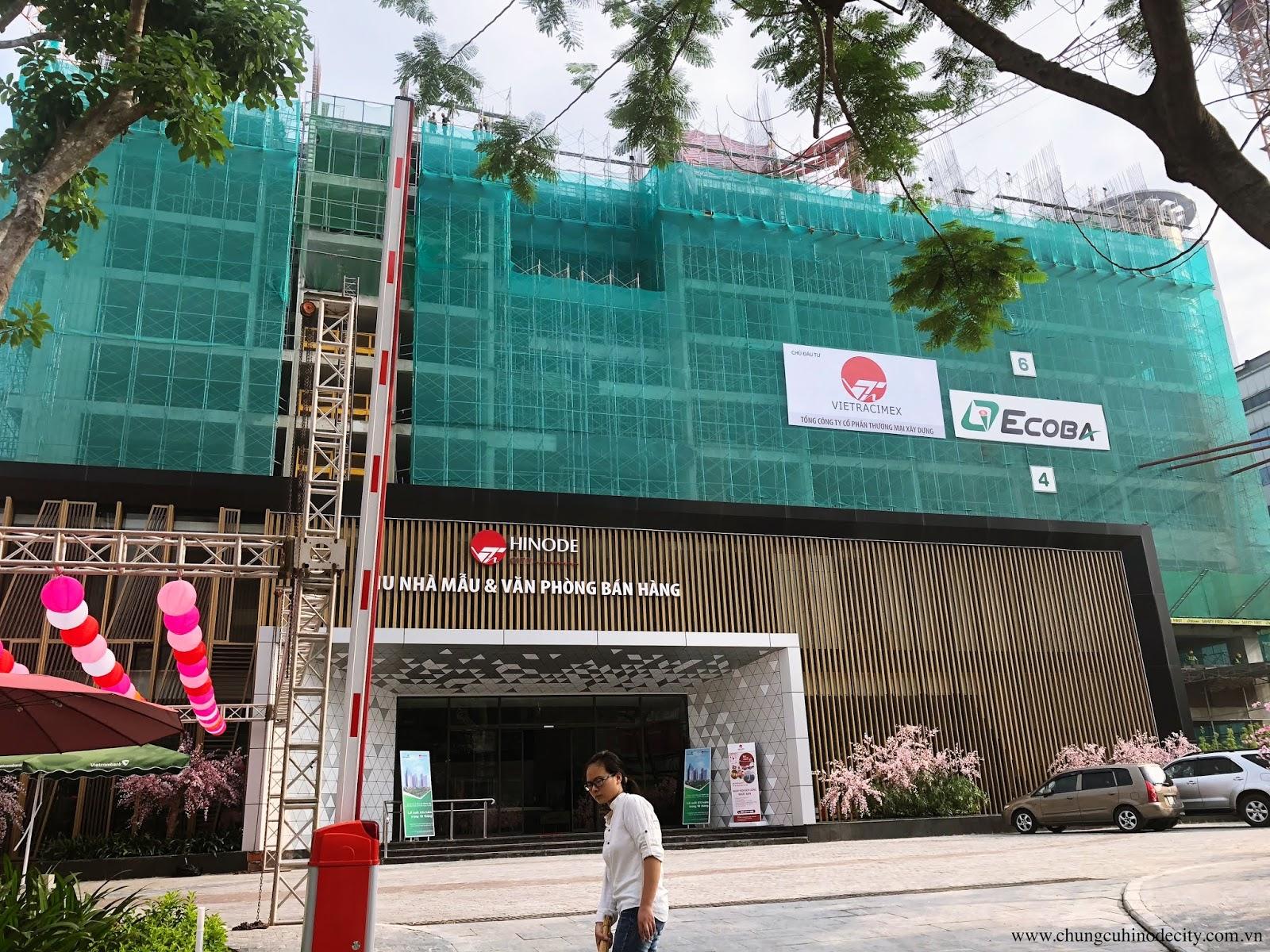 Cập nhật tiến độ xây dựng mới nhất chung cư Hinode City T6/2018