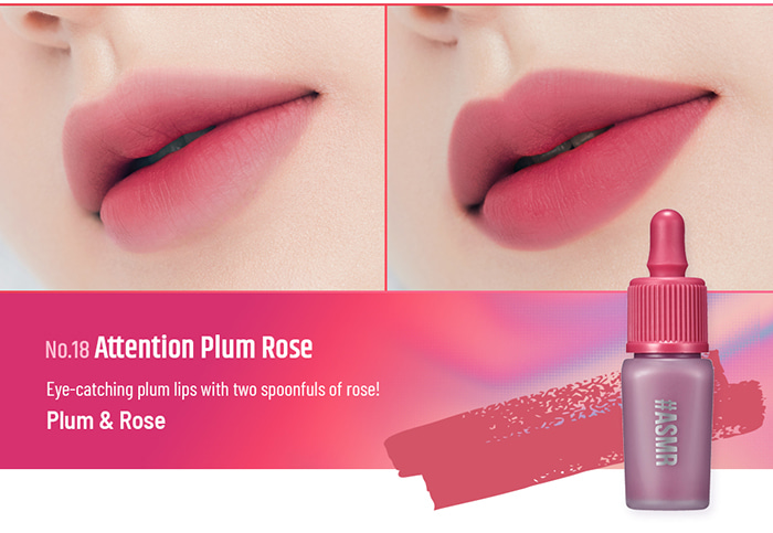 Son Peripera Ink Airy Velvet Attention Plum Rose