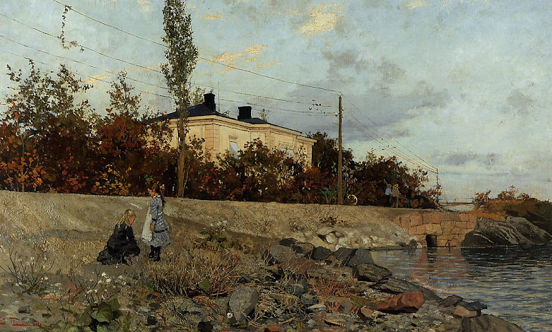 Frits Thaulow - Evening at the Bay of Frogner, 1880