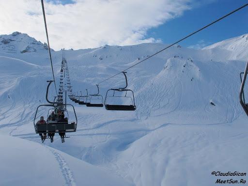 Schi in Austria. Peisaje din Hochfugen