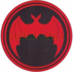 Нарукавний знак Кажан D8.5 червоний