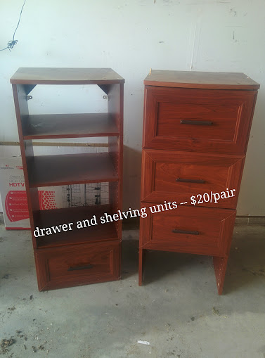 Drawer and Shelving Units (SET)
