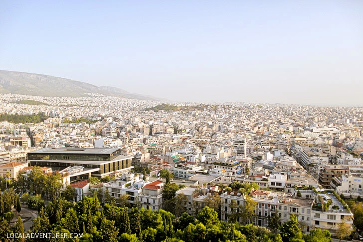 View from Athens Acropolis.