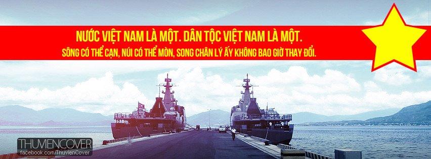 Ảnh bìa nước Việt Nam là một. Dân tộc Việt Nam là một