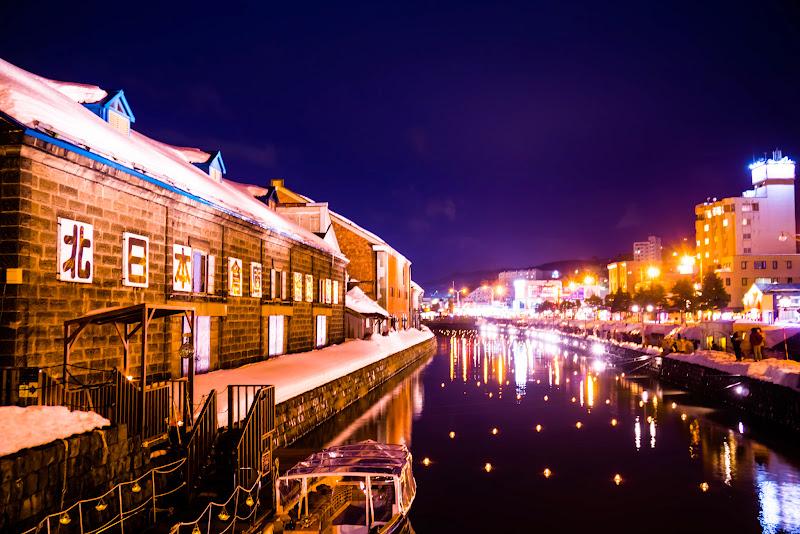 小樽運河 夜景 写真3