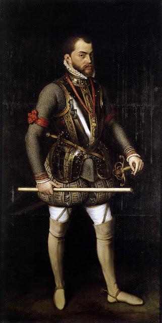 Montaje de la armadura de Felipe II en la batalla de San Quintín (1557)  Felipe+II
