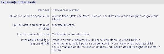 CV deputat Ştefan Alexandru Băişanu - Mincinos profesor, conferenţiar logică