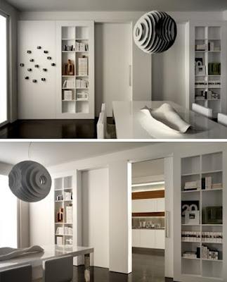 bedroom space divider Partisi Sebagai Tambahan Ruang Penyimpanan