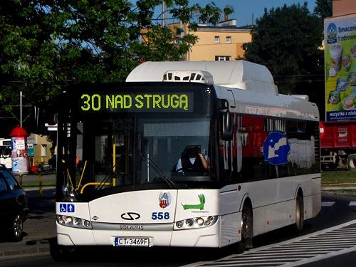 MZK Toruń - 1 z 3 autobusów zasilanych gazem ziemnym (CNG) przewoźnika