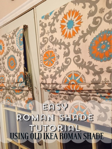 Easy Roman shade tutorial-using old Ikea shade-The Style Sisters