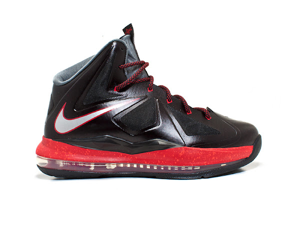 Kids8217 Nike LeBron X GS 8211 Black and Red 8211 Available Early