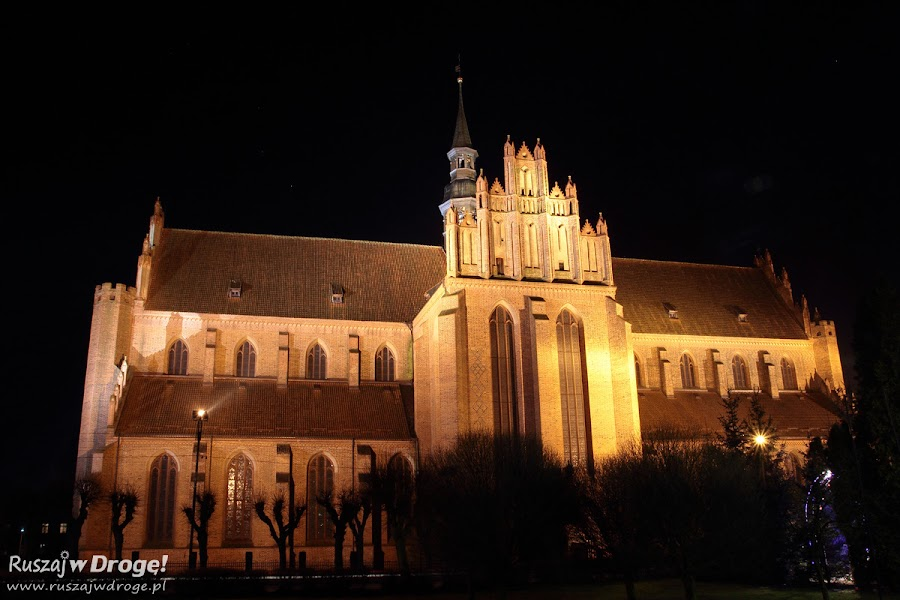 Katedra Pelplin nocą
