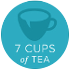 7 cups of tea