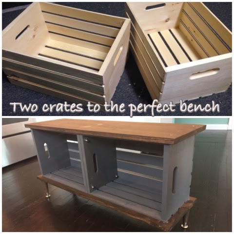 Diy Wood Crate Bench Margaret Patterson Blog