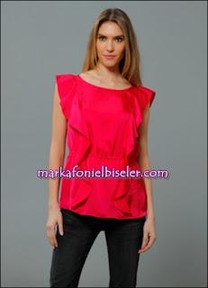markafoni Marks and Spencer fuşya çingene pembesi bluz modelleri