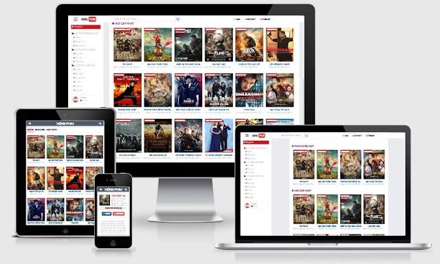 Template Web Phim Giao Diện Youtube Tuỳ Biến Đỉnh Seo Tốt cho Blogger
