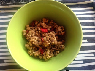 Red Berry Crunch all bran cereal bowl.