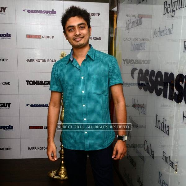 Abhay at the launch of Essensuals salon in Chennai.