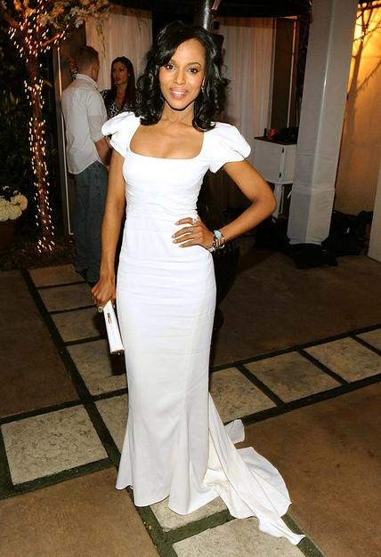 Kerry Washington at a NAACP Image Awards post party hosted by Tyler Perry.