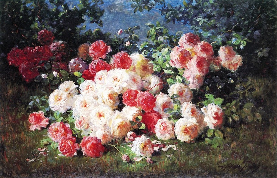 Abbott Fuller Graves - Pink and Red Roses
