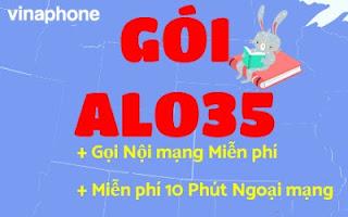 Miễn phí Gọi Nội mạng,10 phút Ngoại mạng với Gói ALO35 Vinaphone